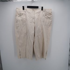 Avenue Zip Side Pocket Bermuda Knee Length Shorts